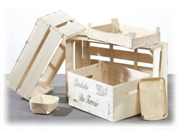 crates, baskets, punnets, boxes, pallets, natural packaging, ecology